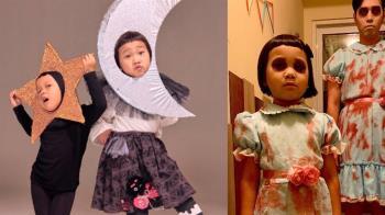 6歲萌娃扮《鬼店》陰森姊妹花 表情服裝超到位