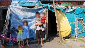 6口擠破屋 塑膠布避雨!5歲女打勾勾:想要一個家