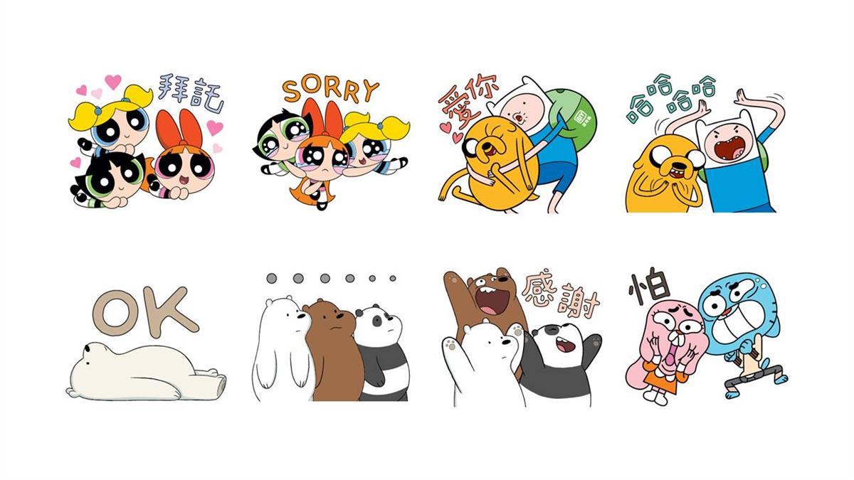 愛奇藝攜手「卡通頻道」 8款免費LINE貼圖攻佔聊天室