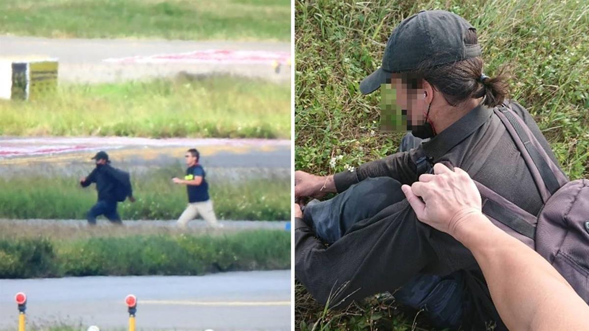 外籍男衝機場跑道 爬華航飛機起降架遭逮