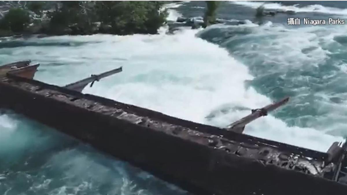 沉沒101年突然移動 鐵船逼近尼加拉大瀑布