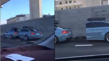 國道驚見雙B!BMW切半剩車尾…改成露營車