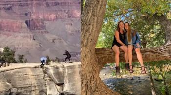 幫母拍照腳滑!20歲女險摔1600m峽谷 驚悚畫面曝