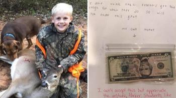 心疼老師薪水「比不上付出」 9歲童送現金加薪