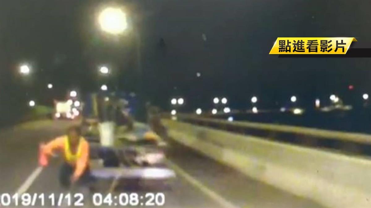 睡眠不足硬開車 沒煞車!直撞修橋工人釀1死