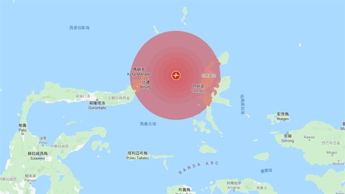印尼規模7.1強震 一度發布海嘯警報