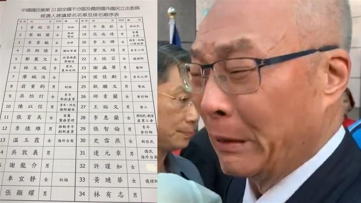 吳敦義排不分區第14 人渣文本:沒回應青壯派