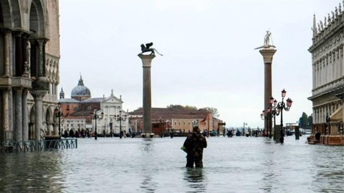 威尼斯水災:50年來最嚴重一次 意大利宣佈進入緊急狀態