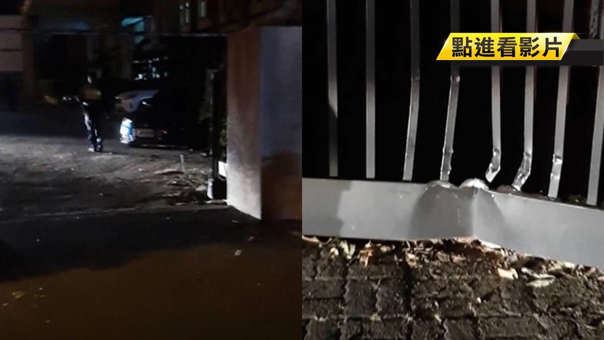 闖禍了!疑失控打滑甩尾衝撞警局 酒駕男自投羅網
