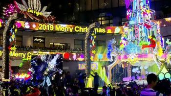 百貨廣場耶誕點燈 各種裝置互動愛分享