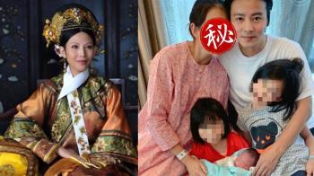 46歲「甄嬛」蔡少芬生了!素顏合體尪曬全家福