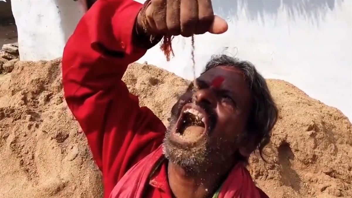 不缺錢吃土20年!印度男每天猛嗑1kg代替正餐