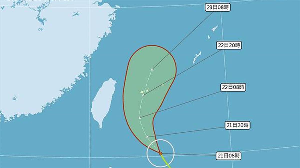 鳳凰颱風路徑修正!海警機率低 這4縣市入夜防大雨