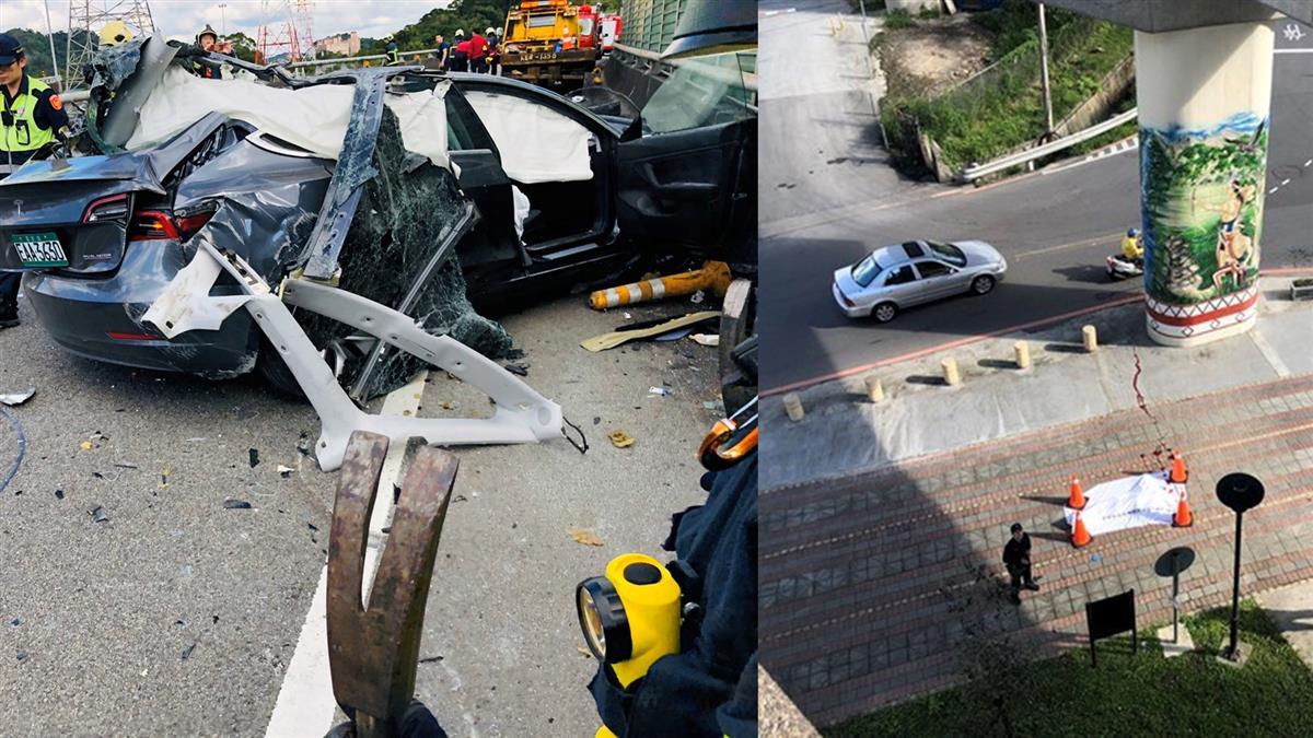 離奇!特斯拉試駕自撞脫困後 23歲駕駛下秒墜橋慘死