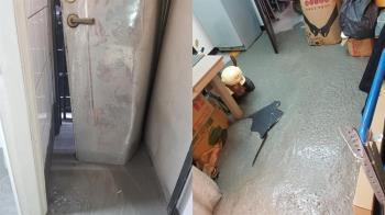 崩潰了!租屋處被水泥灌好灌滿 網:建商賠不完