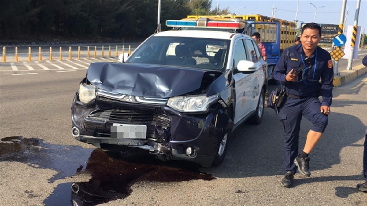 快訊/支援賴清德勤務 台南警車遭追撞5人傷