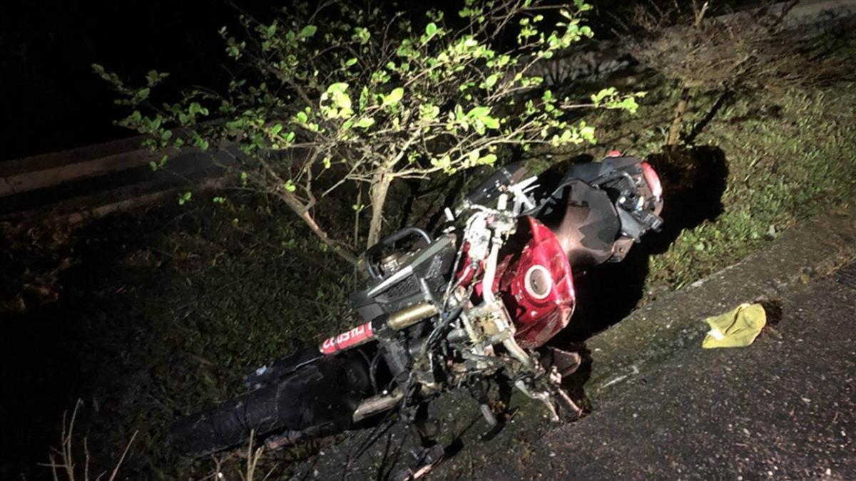 陽金公路車禍!22歲重機男疑自摔身亡