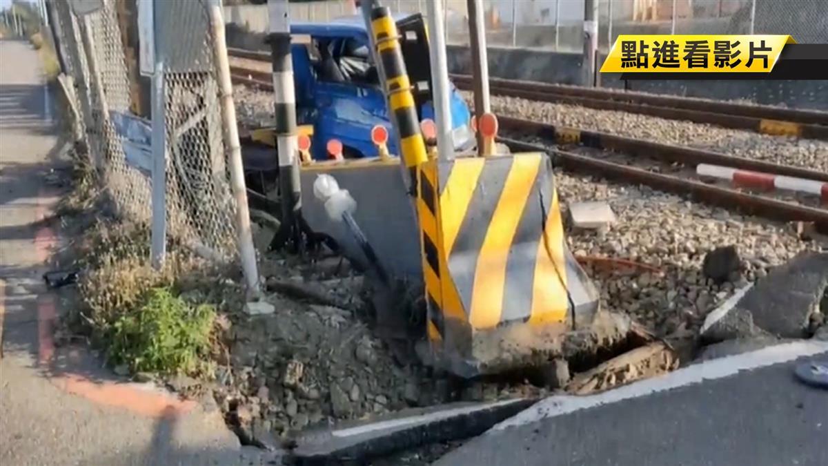 火車撞爛貨車!駕駛控訴:柵欄沒放下