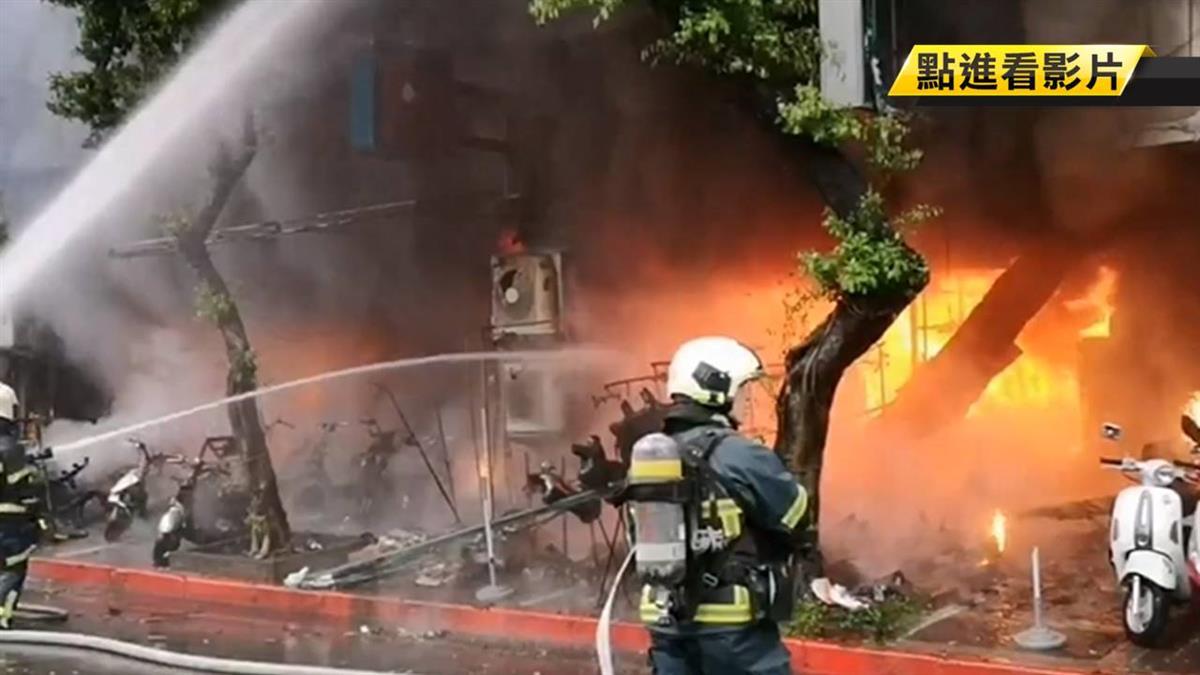 林森北宮廟失火4傷 目擊者:被丟汽油彈