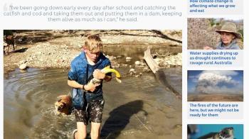 21世紀愚公!澳洲少年不忍魚渴死 徒手搬運逾百條