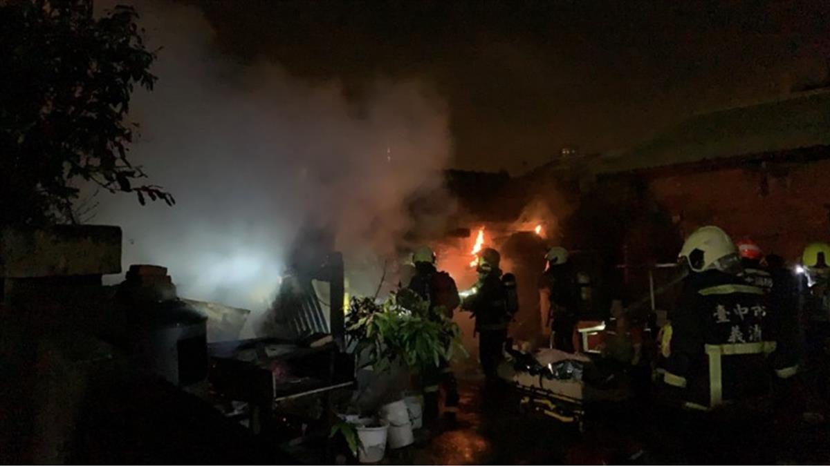 台中龍井民宅傳火警!1女沒呼吸心跳、1男二度燒傷