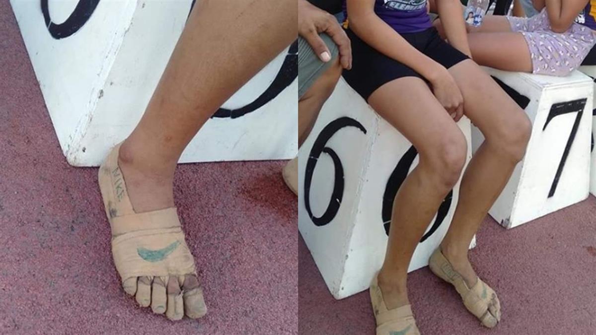 11歲女童穿裸足跑鞋奪3金 網淚搶送鞋