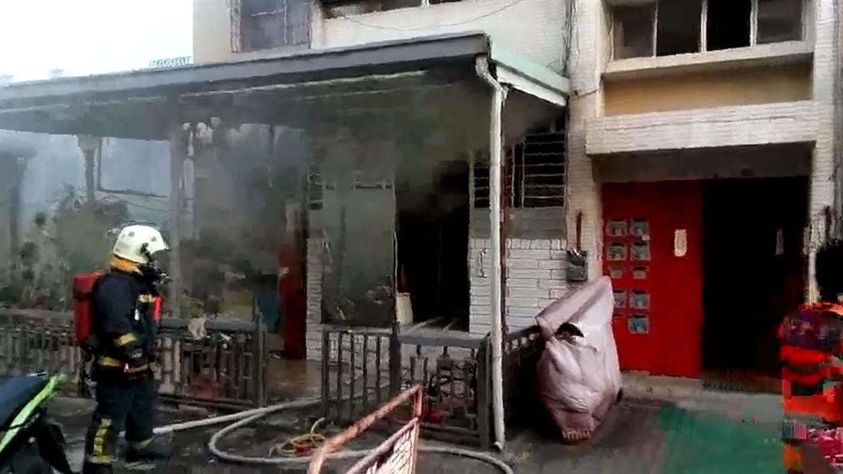 快訊/台南住宅傳大火 90歲老婦命喪火窟