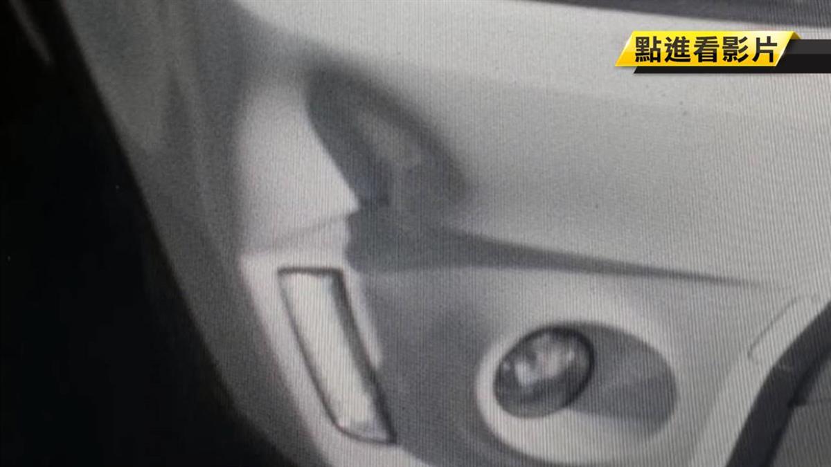 小客車保險桿被撞凹 駕駛控警吃案