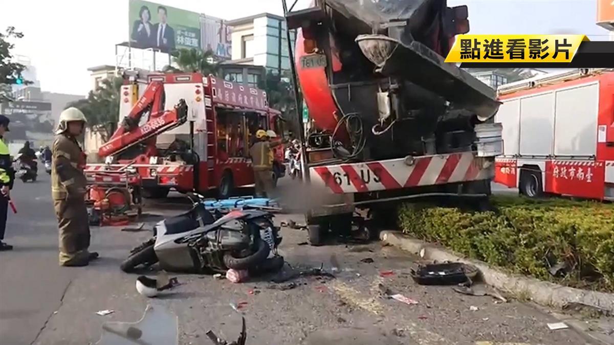 台南水泥車剎車失靈 連環撞釀1死5傷