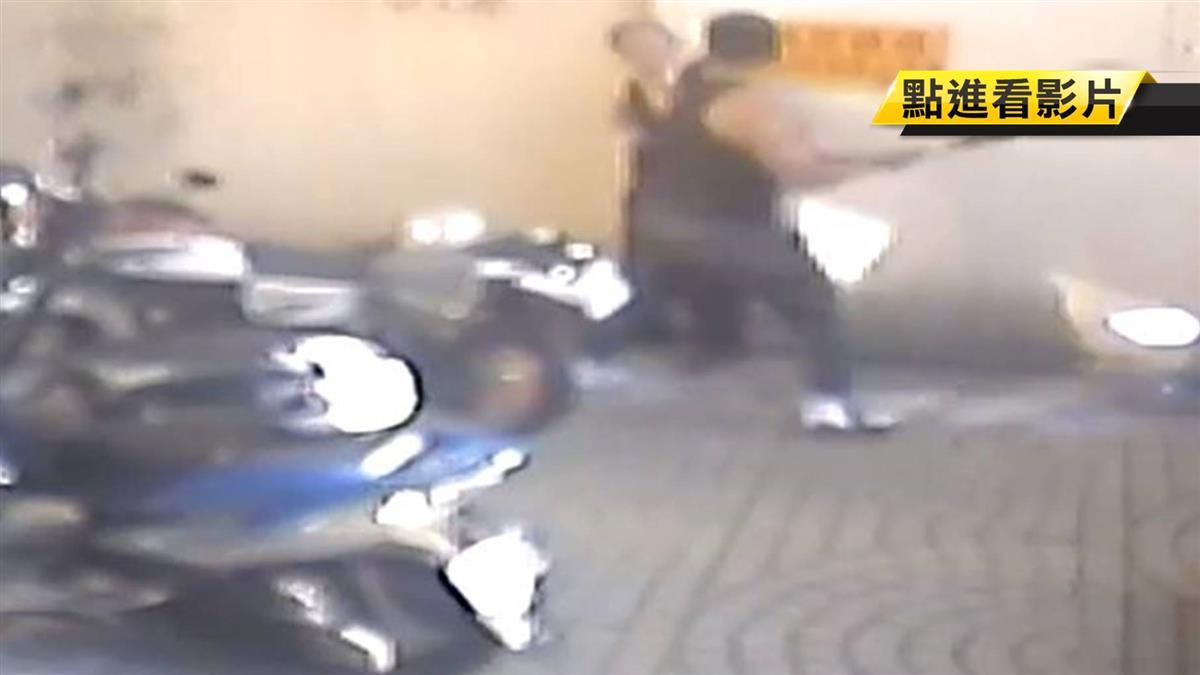 健身教練失控 砸住戶機車持球棒作勢毆管理員
