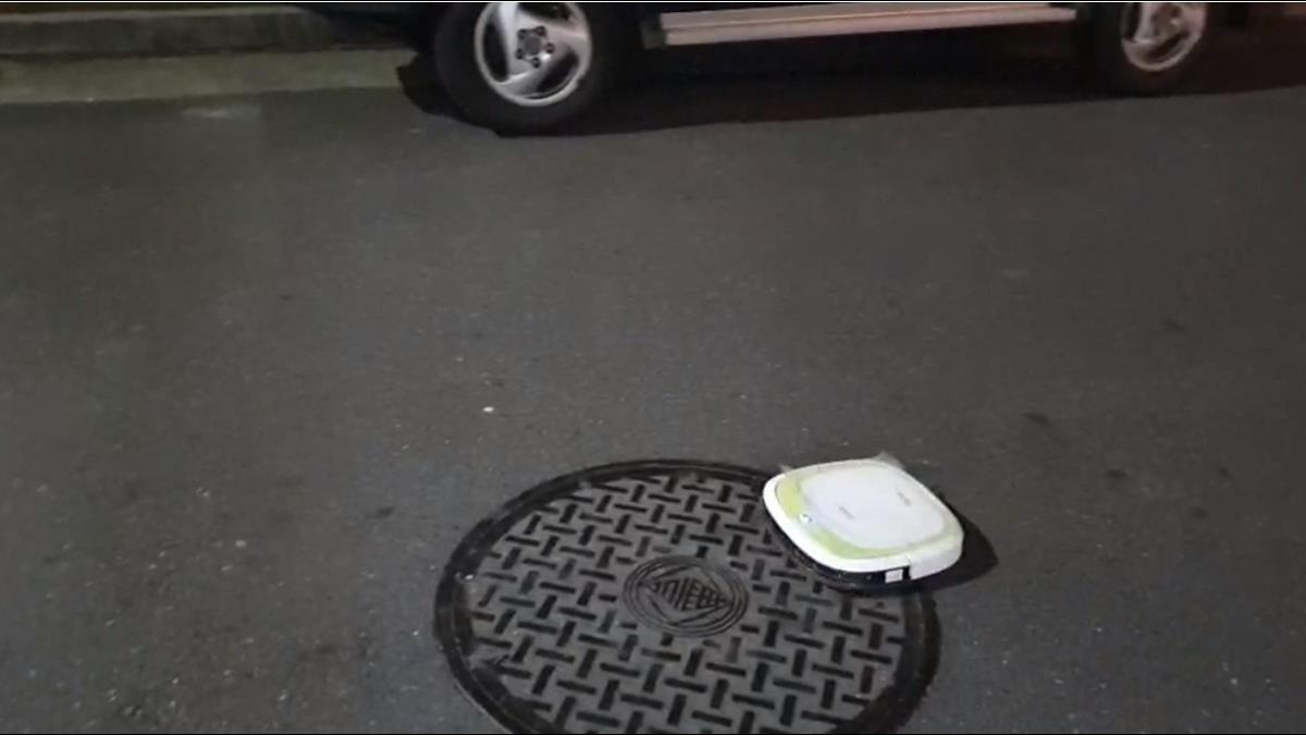 巷弄驚見掃地機器人沿路清潔 里民傻眼:太認真了