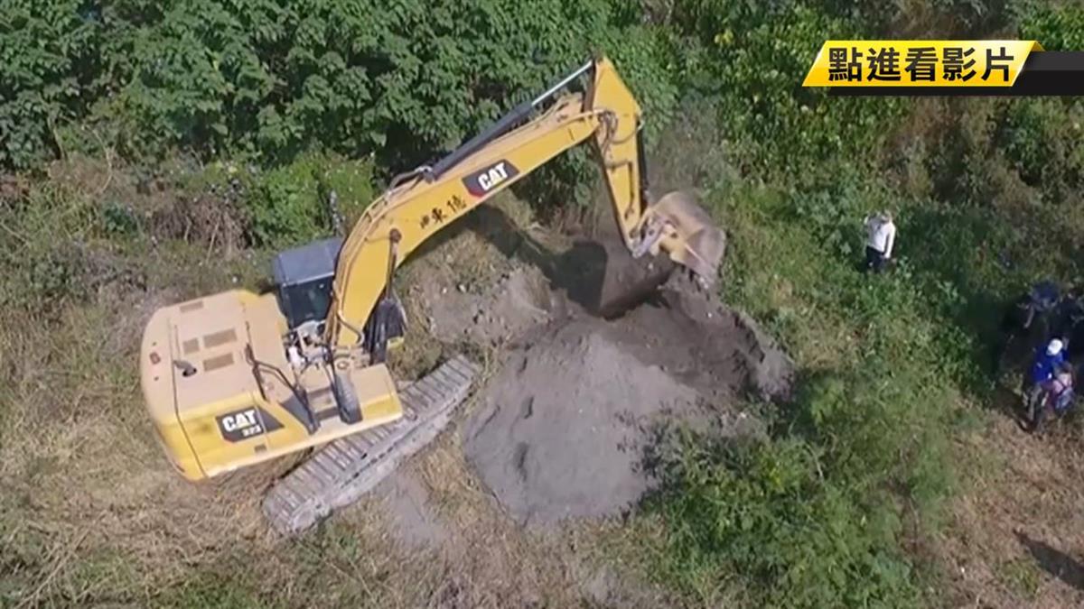 李家砂石場占國有地傾倒廢土?國產署動機具開挖