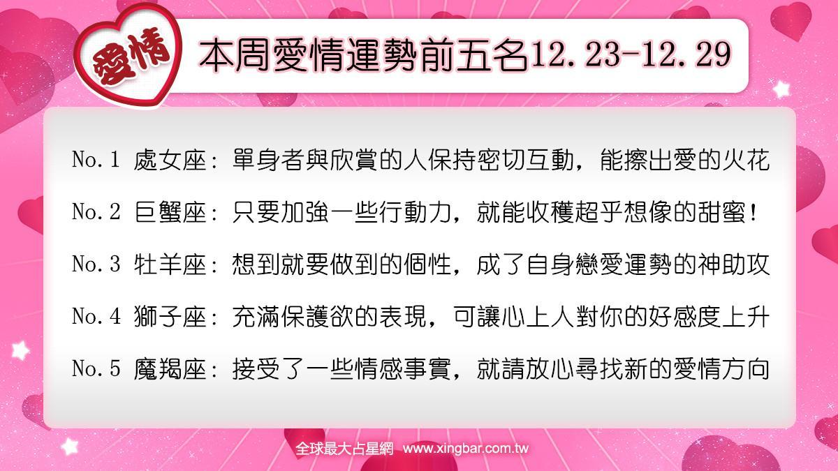 12星座本周愛情吉日吉時(12.23-12.29)