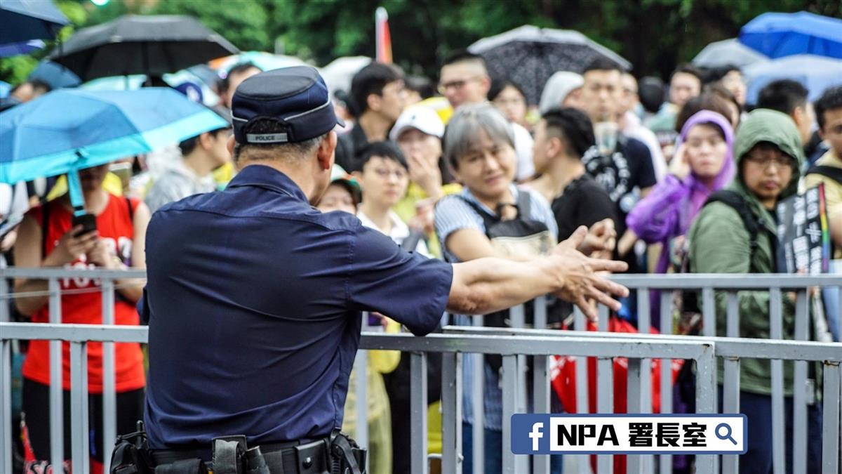 警政署署長率團隊南下 要求暴力現行犯 立即逮捕!