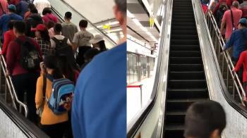 挺韓宣稱破35萬人 散場高捷手扶梯一度故障