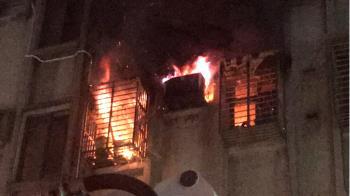 即/北市老公寓4樓竄火 1男無生命跡象