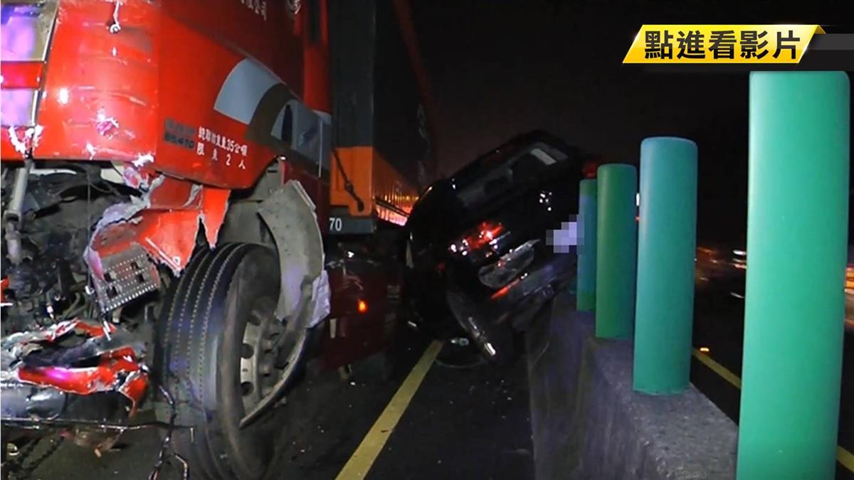 離奇逆向停國道中線 休旅車駕駛遭拋飛亡