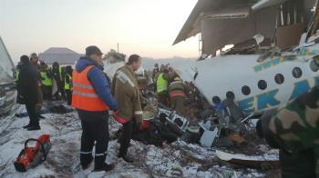 哈薩克載100人班機驚傳墜毀 至少14人喪命