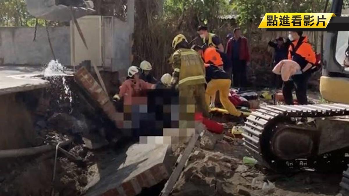花壇工地圍牆倒塌 2名工人遭重壓不治