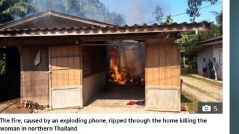 手機充電爆炸!人妻嗆暈燒成焦屍 尪陷昏迷