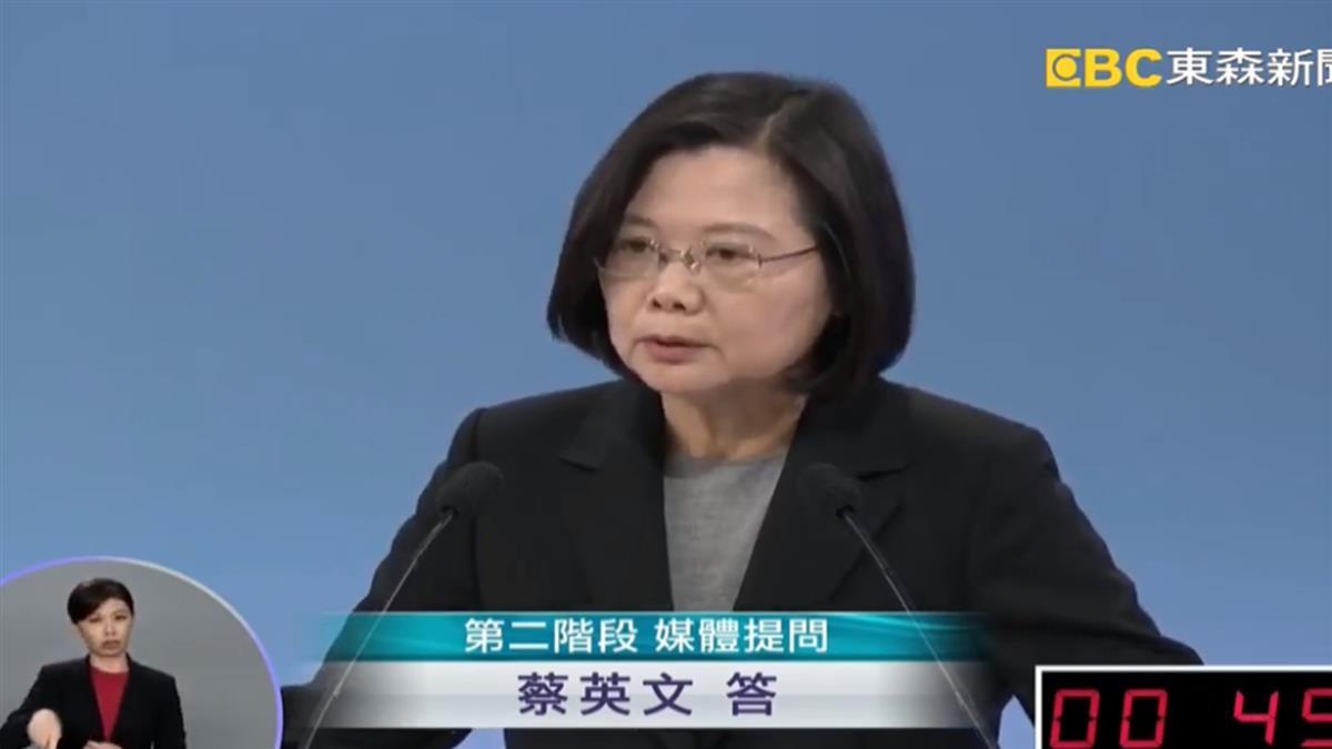 蔡英文酸韓:人民不關心總統是否用膝蓋走路