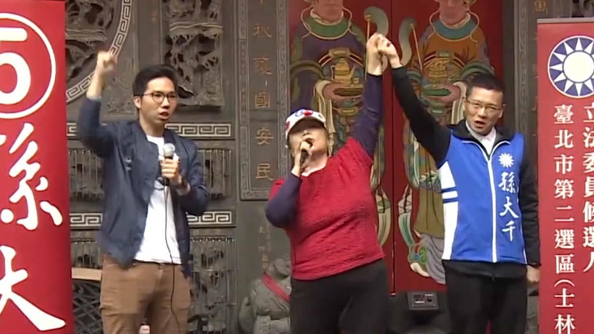孫大千邀網紅歷史哥廟口開講 支持者熱情力挺