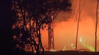 澳洲野火肆虐 新年數千人夜宿海灘