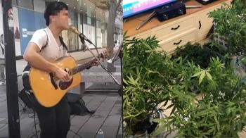 美女刑警扮粉絲跟監 逮街頭藝人吸毒種大麻
