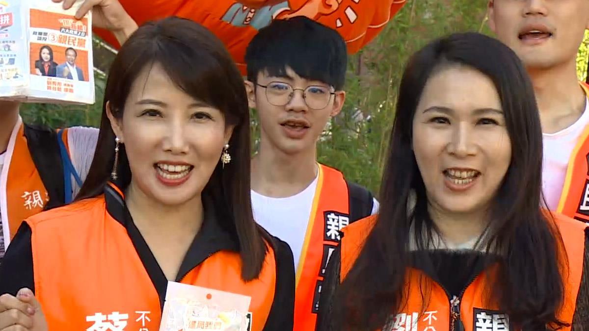 劉宥彤、蔡沁瑜力拚政黨票 西門町向年輕人拜票