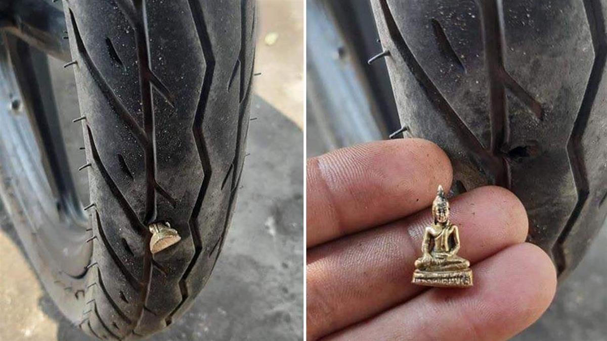 輪胎被扎…拔出竟是佛像!風水師揭因果報應