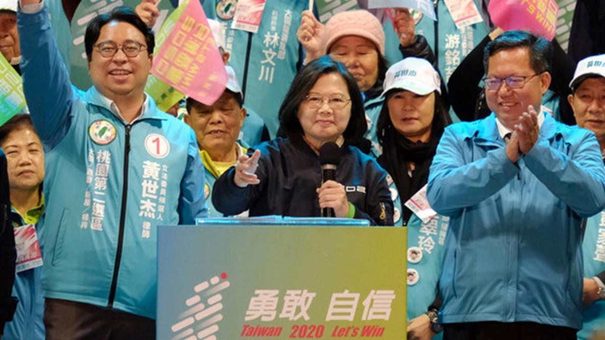 掃街時被民眾熱情感動  蔡總統盼為台灣再拚4年