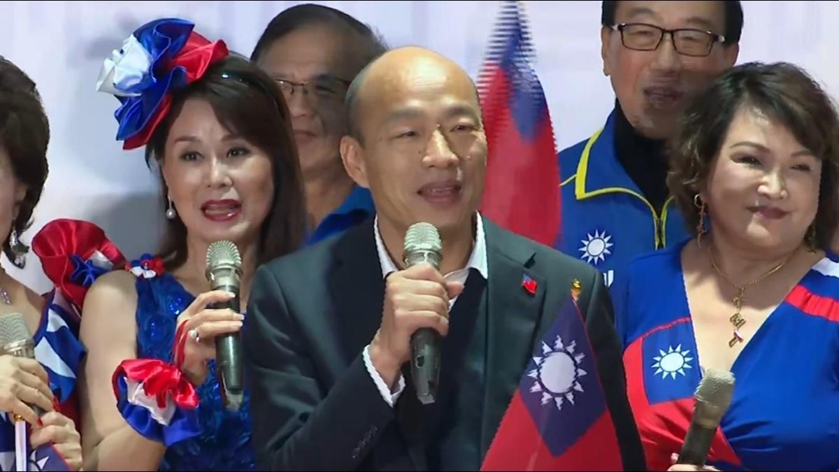 韓國瑜選前2天前開砲 嗆韓黑:一堆被騙還叫乾爹