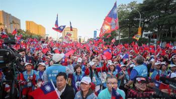 韓國瑜凱道造勢  支持者旗海氣勢磅礡