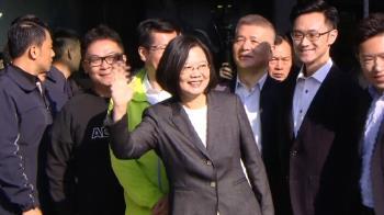 蔡英文現身投票 喊話:讓台灣的民主更強大